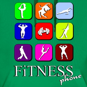 Fitness phone Skjorter - Premium hettegenser for menn