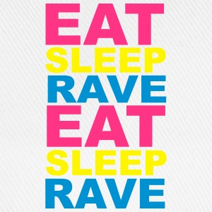 Eat Sleep Rave Bottles & Mugs - Baseball Cap