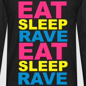 Eat Sleep Rave T-skjorter - Premium langermet T-skjorte for menn