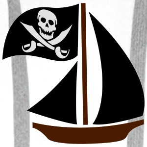 Pirate Boat T-Shirts - Men's Premium Hoodie