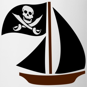 Pirate Boat Camisetas - Taza