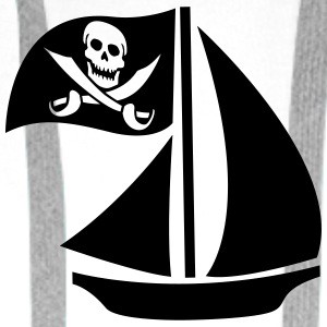 Pirate Boat T-skjorter - Premium hettegenser for menn
