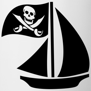 Pirate Boat T-shirts - Kop/krus