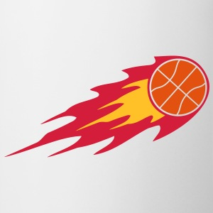 Basketball Fire Ball Logo Magliette - Tazza