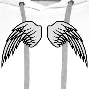 Angel Wings Design T-Shirts - Men's Premium Hoodie