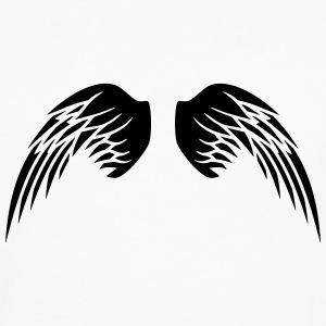 Angel Wings T-shirts - Herre premium T-shirt med lange ærmer