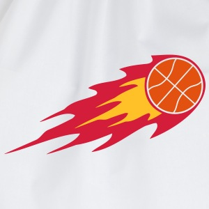 Basketball Fire Ball Logo T-Shirts - Drawstring Bag