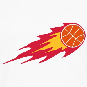 Basketball Fire Ball Logo T-Shirts - Men's Premium Longsleeve Shirt