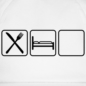 Eat Sleep Logo Design Camisetas - Gorra béisbol