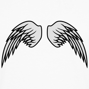 Angel Wings Design T-shirts - Herre premium T-shirt med lange ærmer