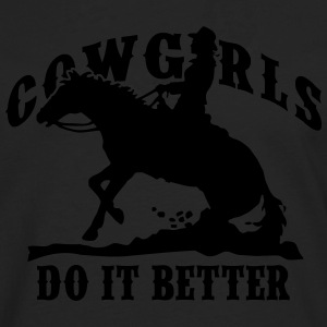 Cowgirls Do It Better - Slide Stop T-Shirts - Männer Premium Langarmshirt