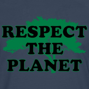 Respect the Planet T-skjorter - Premium langermet T-skjorte for menn