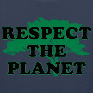 Respect the Planet T-Shirts - Men's Premium Tank Top