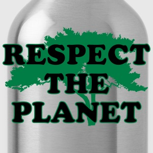 Respect the Planet T-Shirts - Water Bottle