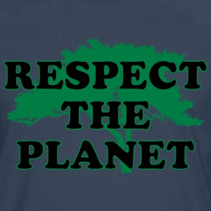 Respect the Planet T-Shirts - Männer Premium Langarmshirt