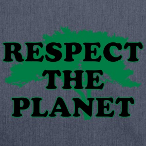 Respect the Planet T-Shirts - Schultertasche aus Recycling-Material