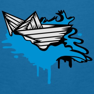 A paper boat on the ocean Accessories - Women's V-Neck T-Shirt