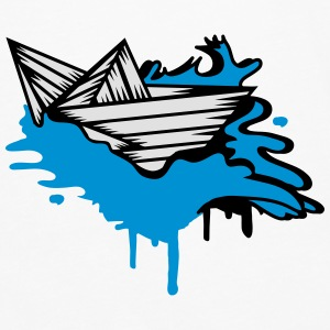 A paper boat on the ocean Bags & backpacks - Men's Premium Longsleeve Shirt