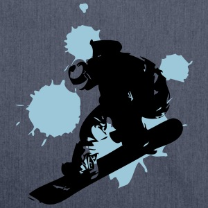 Snowboarder T-Shirts - Schultertasche aus Recycling-Material