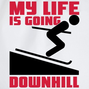 Skiing: My lie is going downhill T-shirts - Gymtas