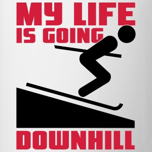 Skiing: My lie is going downhill T-Shirts - Mug