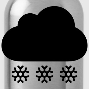 Winter cloud with snow T-Shirts - Water Bottle