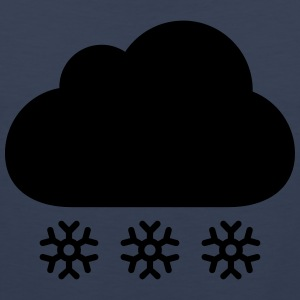 Winter cloud with snow T-shirts - Mannen Premium tank top