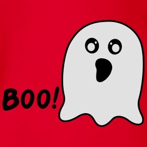 Kawaii Ghost says boo T-Shirts - Baby Bio-Kurzarm-Body