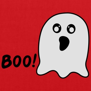 Kawaii Ghost says boo T-Shirts - Stoffbeutel
