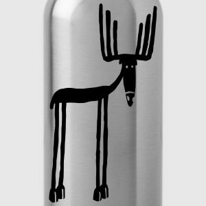 Navy moose T-Shirts - Water Bottle