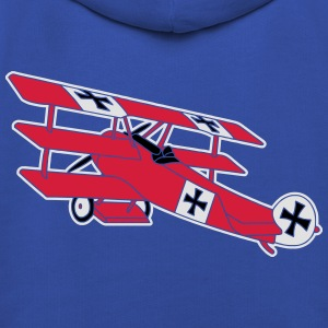 Fokker Airplane Flugzeug Roter Baron Red World War T-Shirts - Kids' Premium Hoodie