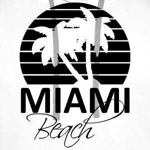 miami beach Shirts - Men's Premium Hoodie