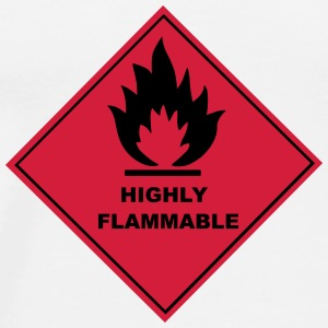 Flammable Warning Sign Bottles & Mugs - Men's Premium T-Shirt