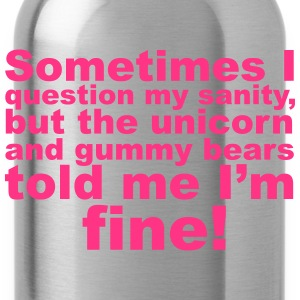 Question My Sanity T-Shirts - Water Bottle