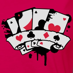 four playing cards and a banner Polo Shirts - Women's Premium Longsleeve Shirt