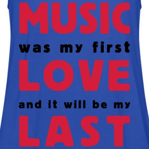 music was my first love 2 colors Magliette - Top da donna della marca Bella