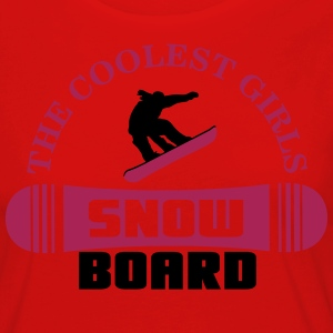 The coolest girls snowboard T-Shirts - Women's Premium Longsleeve Shirt