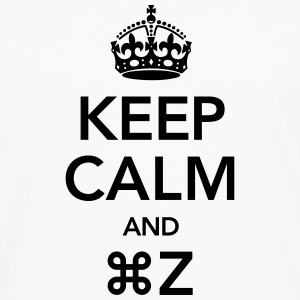 Keep Calm And Command Z T-shirts - Långärmad premium-T-shirt herr