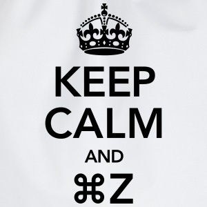 Keep Calm And Command Z T-shirts - Gymnastikpåse