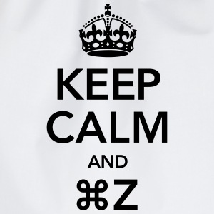 Keep Calm And Command Z Tee shirts - Sac de sport léger