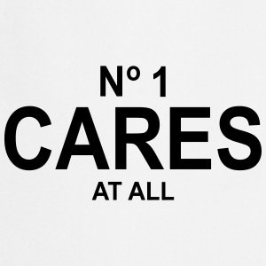 No 1 Cares At All T-Shirts - Cooking Apron