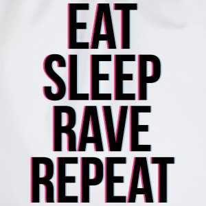 eat sleep rave repeat colourful T-shirts - Gymtas