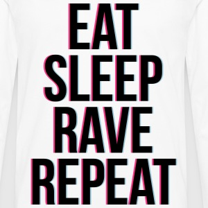 eat sleep rave repeat colourful Tee shirts - T-shirt manches longues Premium Homme