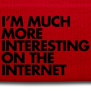 More Interesting On The Internet T-Shirts - Winter Hat