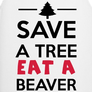 Skov-og Animal - Save a Tree eat a Beaver T-shirts - Forklæde