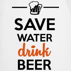 Alcohol Leuk shirt  - Save Water drink Beer T-shirts - Keukenschort