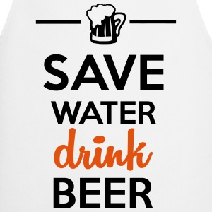 Alkohol Fun Shirt  - Save Water drink Beer T-shirts - Förkläde