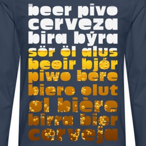 Beer in the glass Language  T-Shirts - Men's Premium Longsleeve Shirt