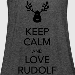 keep calm love rudolf Weihnachten Elch Pullover & Hoodies - Frauen Tank Top von Bella