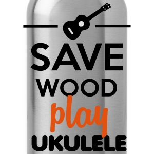 Ukulele Musical Instrument- Save Wood play Ukulele T-Shirts - Water Bottle